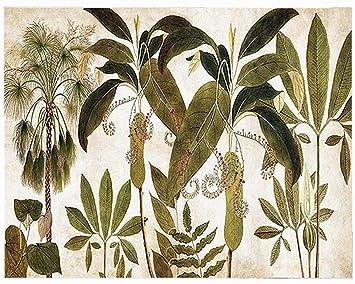 Lienzo de Tela; Decoración Pared de Interior jardín Tropical; Collection Deco Design; Tendance
