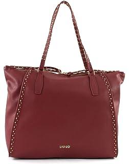 Borsa Shopping Gioia Liu Jo Dark Red con Borchie 0b09d970675