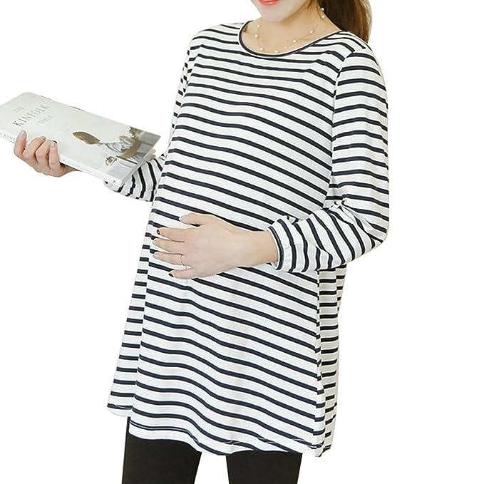 Samber Pijamas para Mujer Otoño e Invierno Camiseta de Manga Larga para Mujer Embarazada de Puro