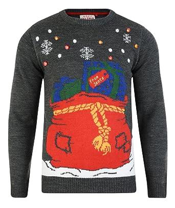 Threadbare Men's Christmas Jumper Led Light Up Knit Sweater at ...