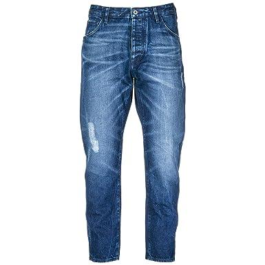 d25cfed990b21 Emporio Armani Vaqueros Jeans Denim de Hombre Pantalones Nuevo BLU EU 32  (UK 32) 6Z1J041D1DZ0941  Amazon.es  Ropa y accesorios