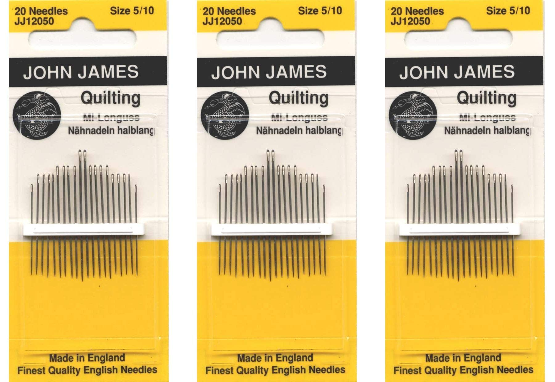 Colonial Needle Quilting/Betweens Hand Needles-Size 5/10 20/Pkg (Тhree Pаck) by Colonial Needle