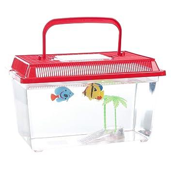 Pet Supplies Fish & Aquariums Plastic Starter Aquarium Fish Tank Reptile Insect Fish Cage Carry Handle Asorted