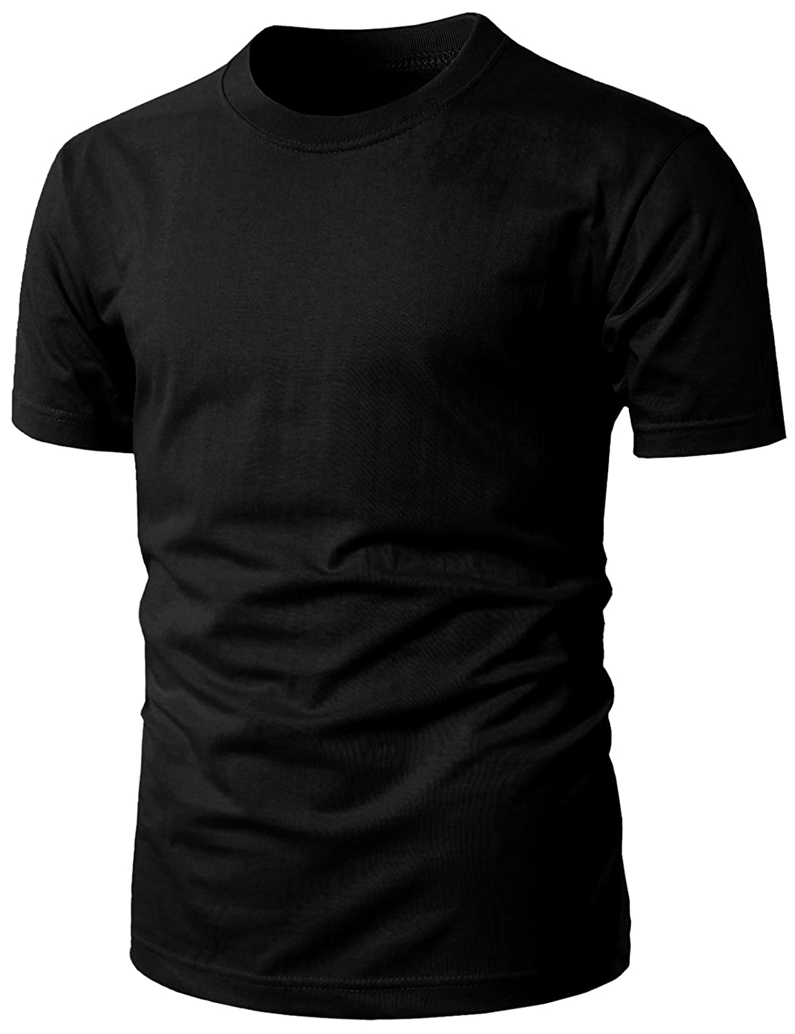 7c586ae0b Runs Large, contemporary fit, lightweight ring-spun cotton for superior  softness, cool garment and basic designed Crew-Neck or V-Neck T-shirts ...