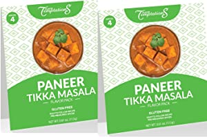PANEER OR TOFU TIKKA MASALA INDIAN FOOD SPICES by Flavor Temptations. Home Cook CURRY Dishes with Beginner Seasoning Set. Gluten free, Salt free. 2 Packs (Total 8 Servings)