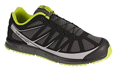 finest selection 0664f 2ebac Salomon Kalalau Mens Grey Black Green Running Trainers ...