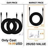 DC Power Extension Cable, 33ft 2Pack 2.1mmx5.5mm DC Plug Power Supply Adapter Extension Cord 20AWG Power Cord Compatible with 12V,24V Wireless CCTV IP Security Camera,Led Strip Lights,Standalone DVR