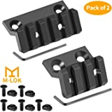 GoldCam M-LOK Offset Rail Mount, 3 Slots 5 Slots Aluminum Offset Side Light Optic Sight Picatinny Rail Mount for MLOK System - 2 Pack