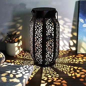 Farolillos Solares Exterior- KALULU Luces Terraza Exterior Led Exterior Jardin lampara solar Decoración de Jardín para Camping, Terraza, Camino (2): Amazon.es: Iluminación