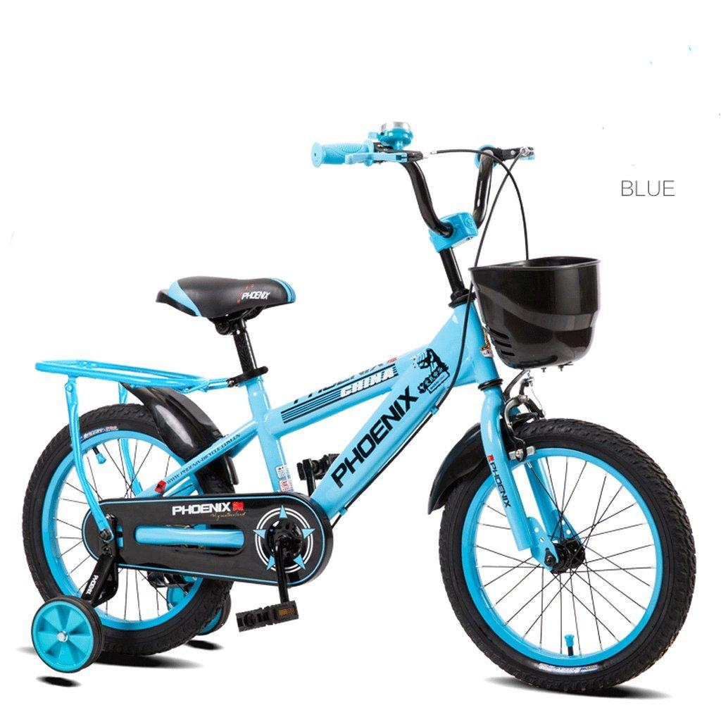 子供の自転車キッズペダル自転車の少年少女2-10歳の屋外マウンテンバイク (色 : 青, サイズ さいず : 18 inches) B07D3R95FV 18 inches|青 青 18 inches
