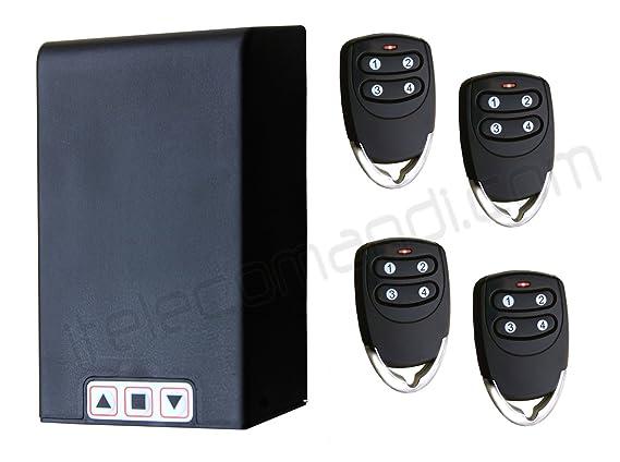 Hiland - Kit universal de centralita para persianas TM5811 con mandos a distancia, para persianas normales y enrollables, funciona con cualquier motor de ...