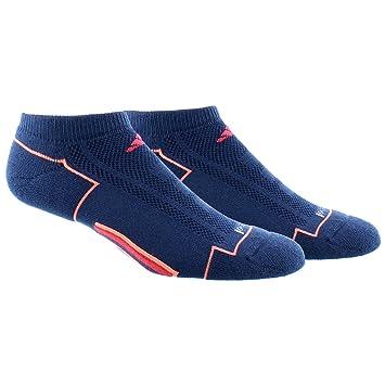 adidas Climacool de la mujer no show calcetines (2 pares) - 103884, rojo, azul, (Mineral Blue/Sun Glow/Shock Red): Amazon.es: Deportes y aire libre