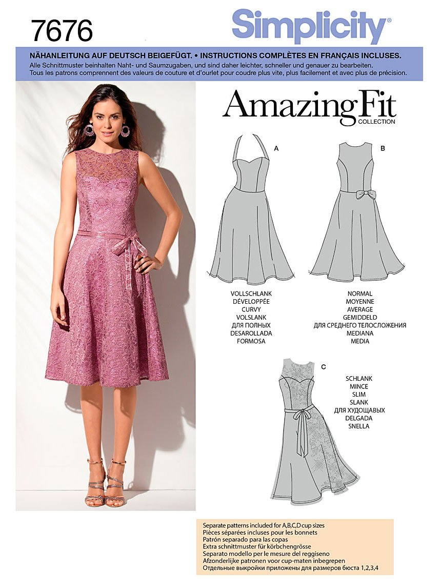 Simplicity Sewing Pattern 7676.d5 Dress: Amazon.co.uk: Kitchen & Home