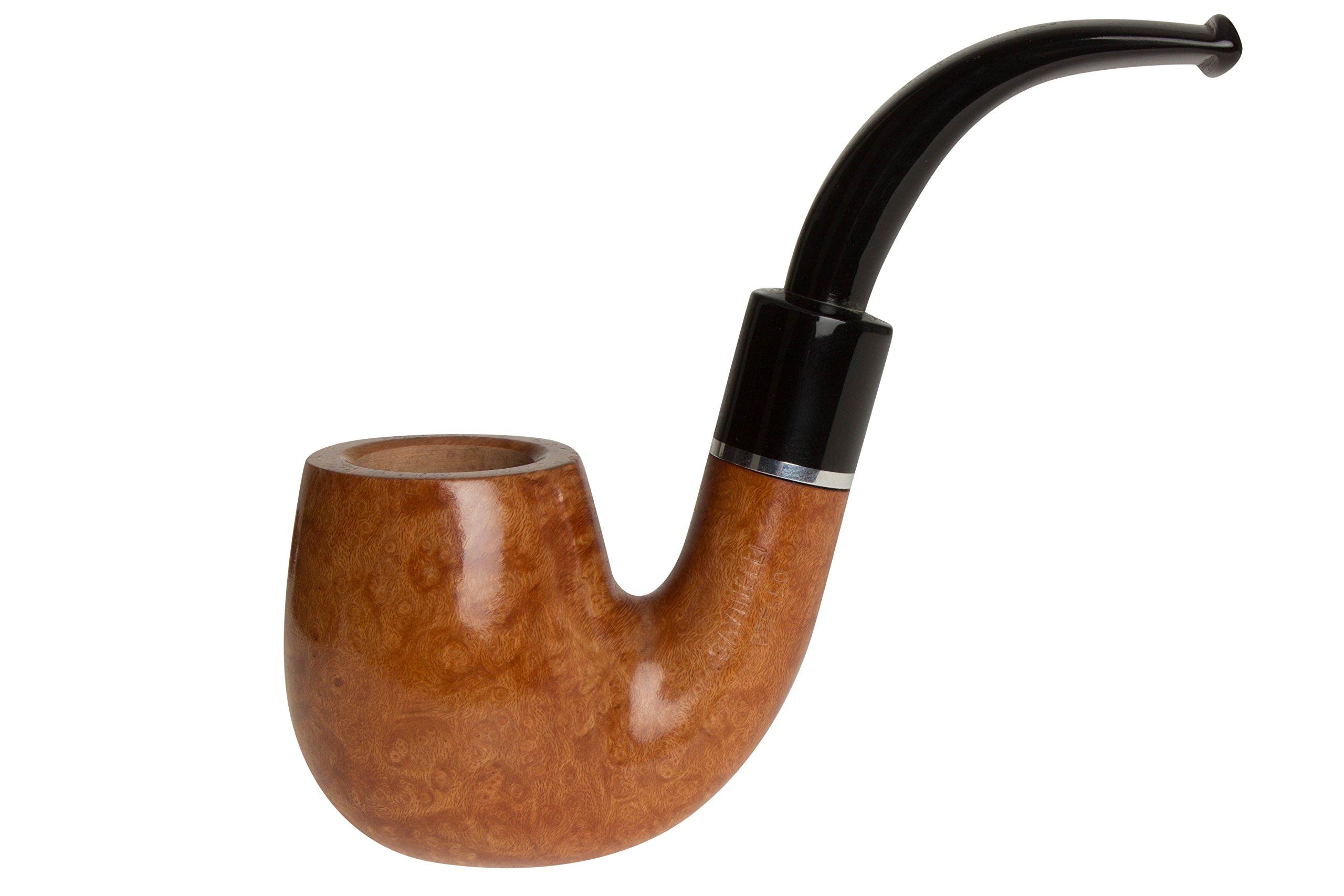 Savinelli Otello 614 Natural Tobacco Pipe - Bent Billiard
