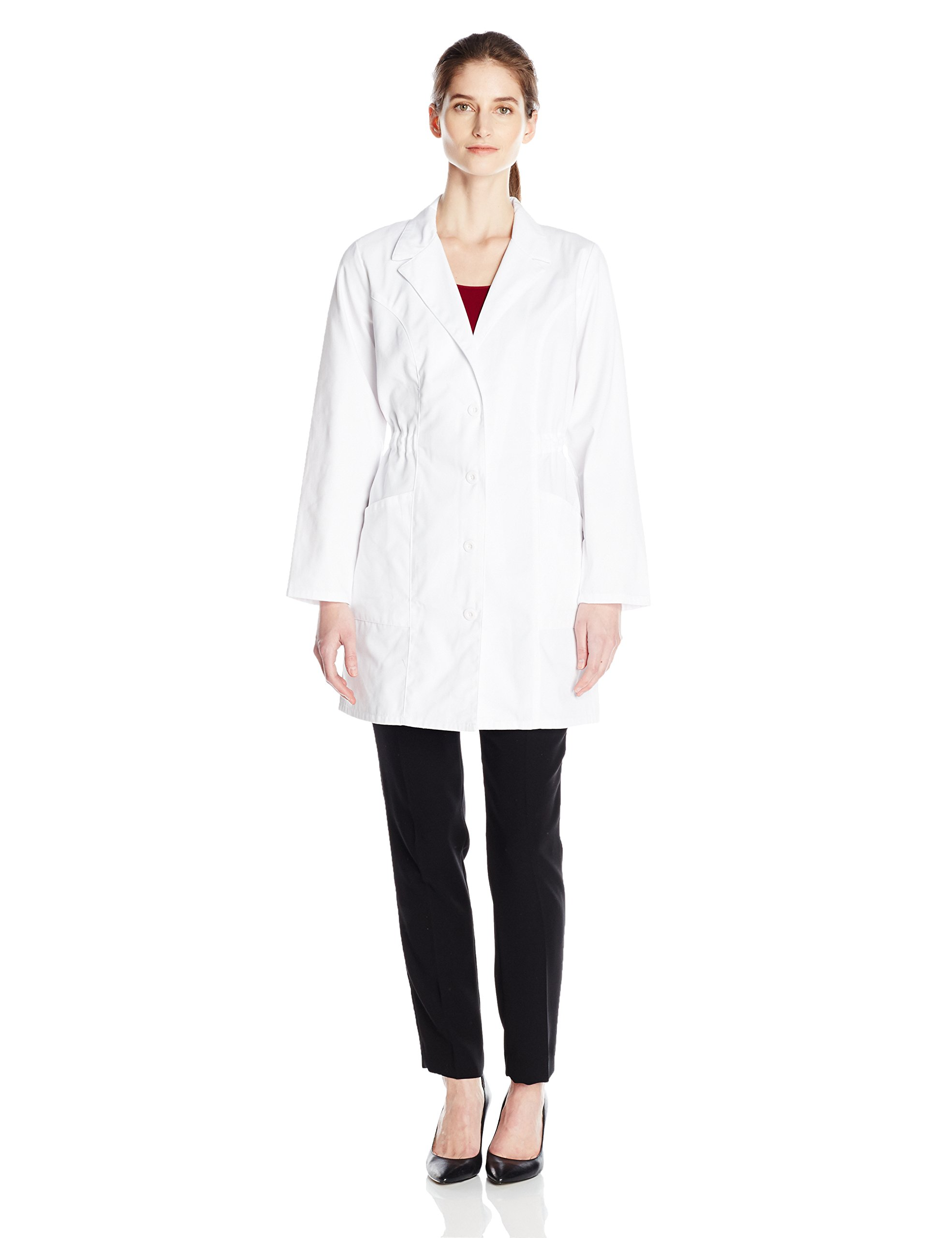 Dickies Women's 34 Inch Lab Coat, White, X-Small