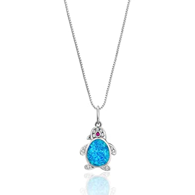 Luckeyui Created Blue/White/Purple/Purple Opal Fatima Hamsa Hand Pendant Necklace for Women 2WhsdW2nzy
