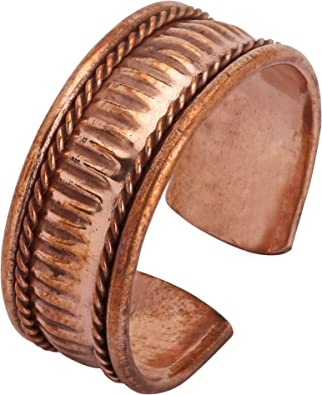 iCraftJewel Pure Copper Ring Bio Healing Pain Reliver Ethnic Style Ring Jewelry Gift Item