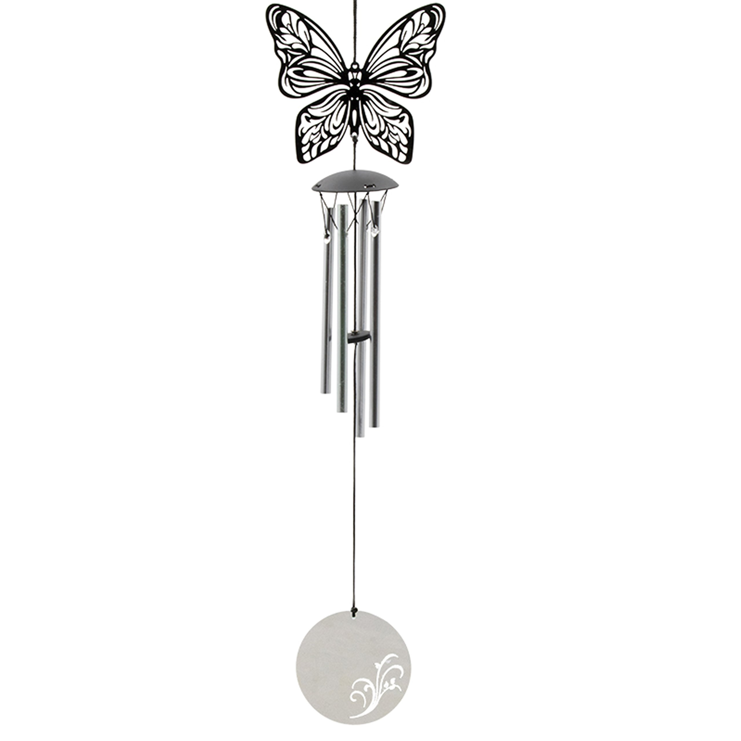 Haeriol Chime - Outdoor/Indoor Butterfly Wind Chimes - Lightweight Small Aluminum Metal - Decorative Unique Tuned mini Windchime for Beautiful Backyard for kids hanging in garden, living room, Bedroom