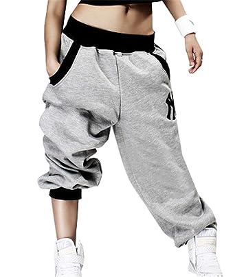 Élastique Eté Pantalons Femme Poches Jogging Moyen Avec Taille doxBerC
