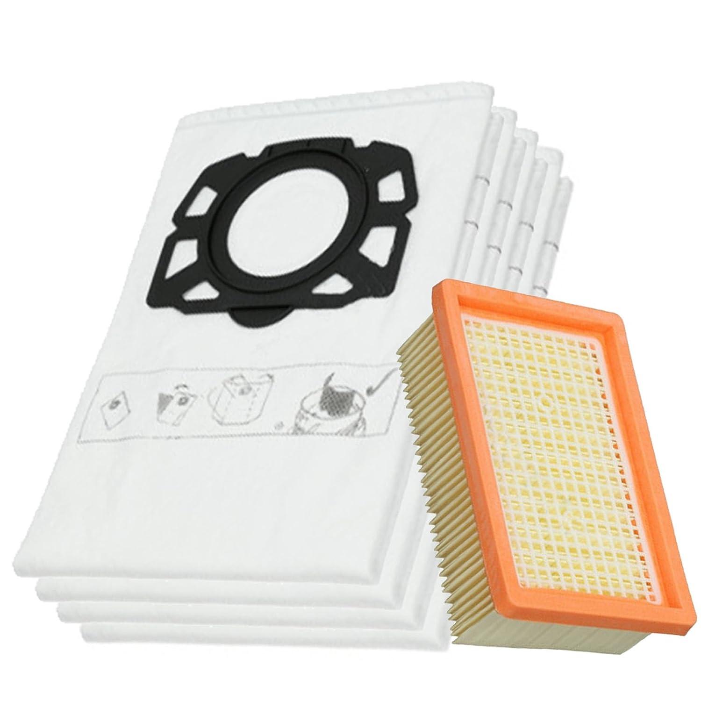Spares2go Filtro plisado y 4 bolsas de polvo para aspiradora ...