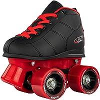 Crazy Skates Rocket Roller Skates for Boys and Girls - Great Beginner Kids Quad Skates - Black and Red
