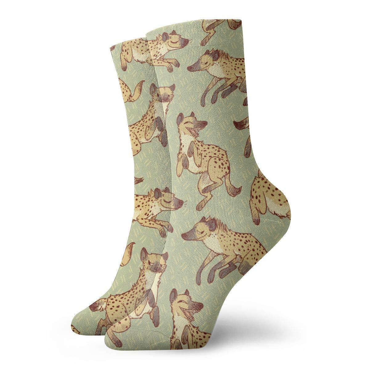Hyena Patterns Unisex Funny Casual Crew Socks Athletic Socks For Boys Girls Kids Teenagers