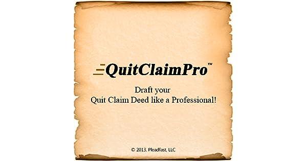 Amazon.Com: Quitclaimpro - Instant Quit Claim Deed Creator