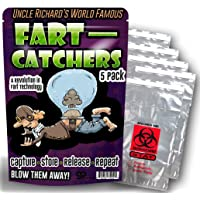 Fart Catchers ? 5 Pack ? Funny Gag Gifts for Men ? Silly Gifts ? Biohazard Bags ? Gifts for Teens ? Silly Stocking Stuffers - Funny Butt Gifts by Gears Out