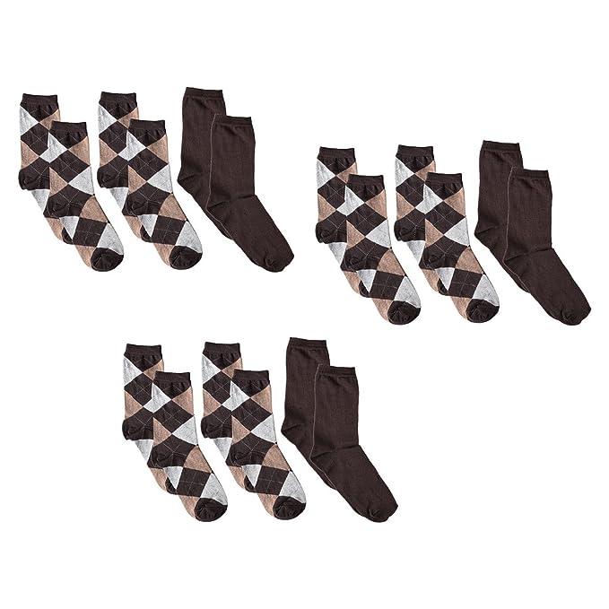 9 Pares de Calcetines Mujer en Enviando rombos: Amazon.es: Ropa y accesorios