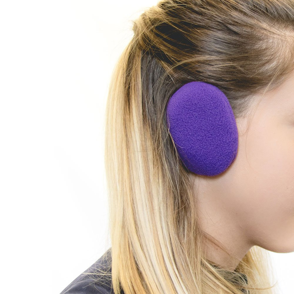 Sprigs Earbags Bandless Ear Warmers/Fleece Earmuffs with Thinsulate - Purple, Medium