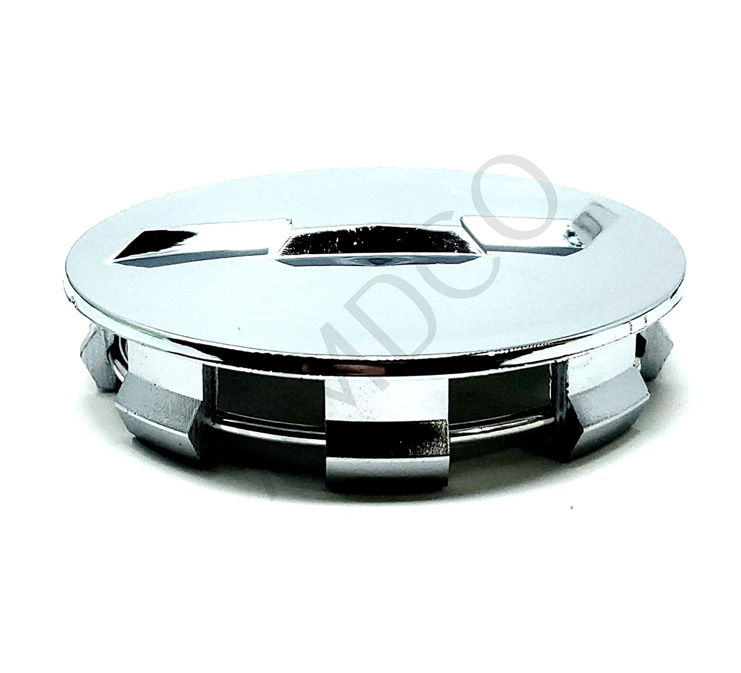 AMDCO Pack of 4 83MM CHROME CENTER CAP HUB SET For CHEVROLET etc Emblem Badge Stickers Decals Fender Rear Front Hood Side Crest Body with Strong 3M Includes instructions MEASURE Before Purchase