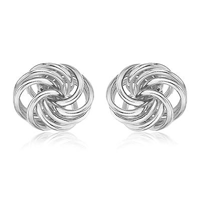 Tuscany Silver Sterling Silver Knot Stud Earrings 9rSjOc