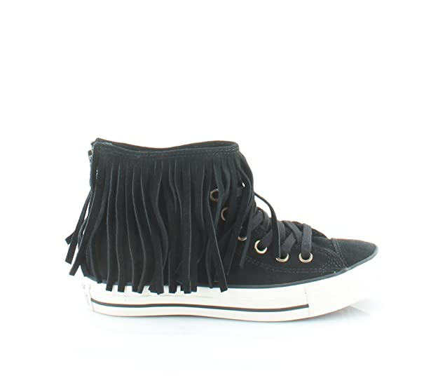 Star All Chuck Suede Converse Taylor Fringe Shoes Schwarz jLqUzMVpGS