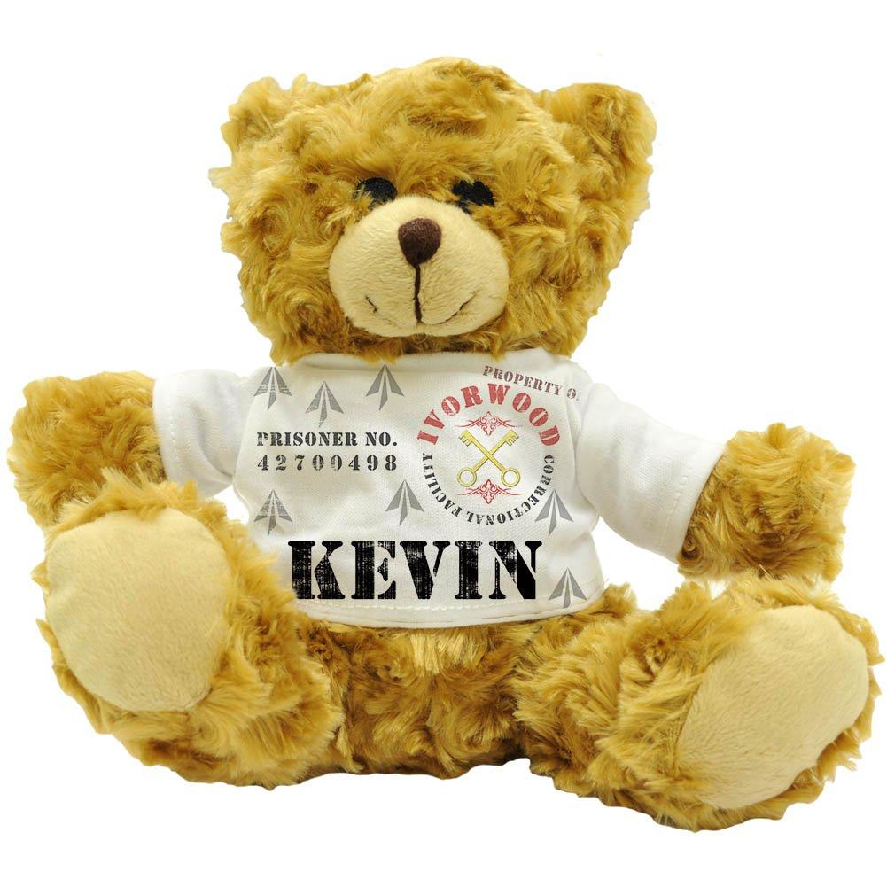Kevin Eigentum der Fazilität Ivorwood Correctional, personalisierbar, Name Prisoner Plüsch-Teddybär (22 cm)