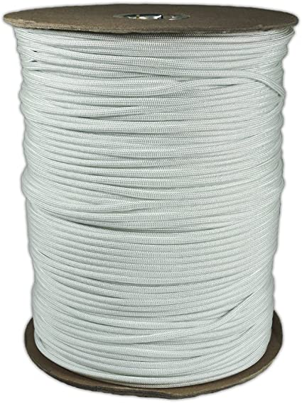 1000 ft #RG1220S 7 strand core Atwood Rope MFG Parachute Cord White Spool