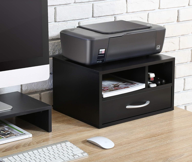 4 Livelli Portaoggetti Supporto per Scrivania Stampante Ufficio in Legno 355x250x275mm DO403501WB FITUEYES Organizzatore della Scrivania