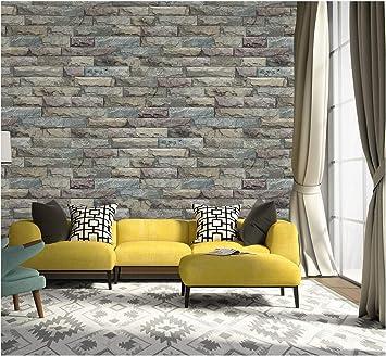 Peel And Stick Wallpaper Brick Removable Wallpaper 3d Effect Textured Wallpaper For Bedroom 17 7 X 196 9 Amazon Com