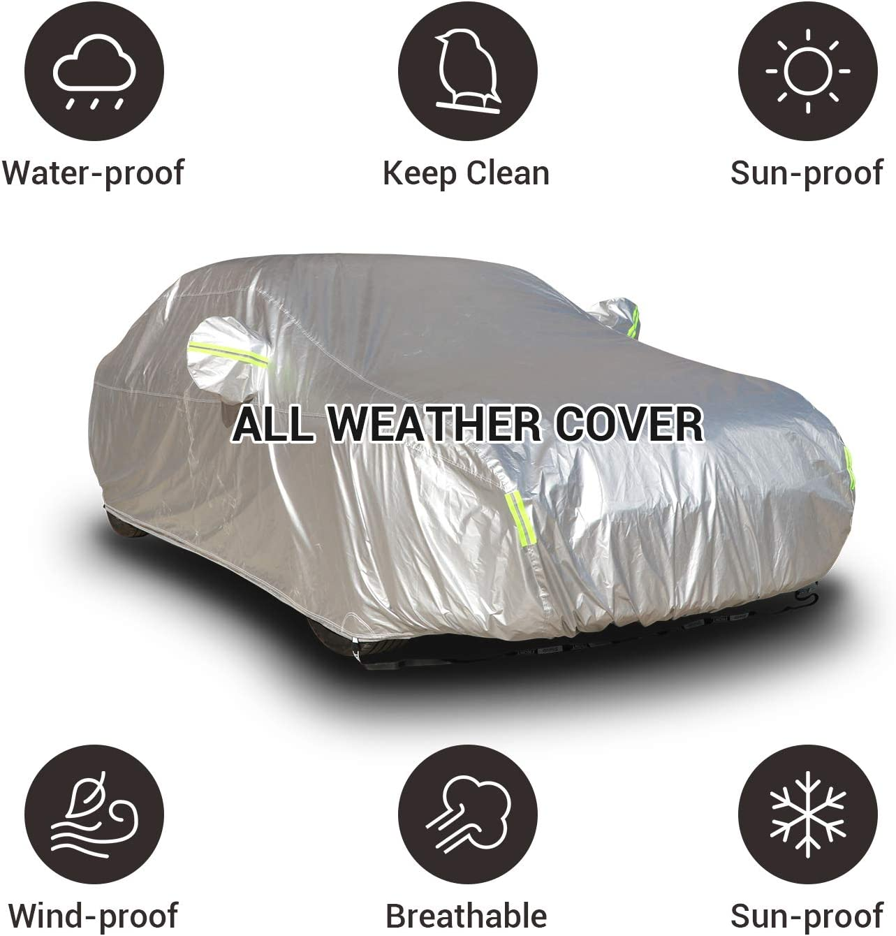 Shield Waterproof CAR Cover H-Duty Fiat SEICENTO 1997-2010 Cotton Lined-Size S