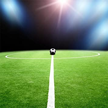 Amazon Com Aofoto 8x8ft Soccer Field Backdrop Football Pitch Photography Background Green Lawn Game Sports Match Kid Boy Adult Portrait Seamless Photo Shoot Studio Props Video Drop Vinyl Wallpaper Drape Camera