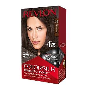 Revlon ColorSilk Hair Color, 20 Brown Black 1 ea (Pack of 5)