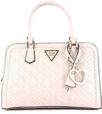 Guess LYRA SMALL GIRLFRIEND SATCHEL Handtaschen damen Beige Handtasche, Stone (Weiß), Einheitsgröße