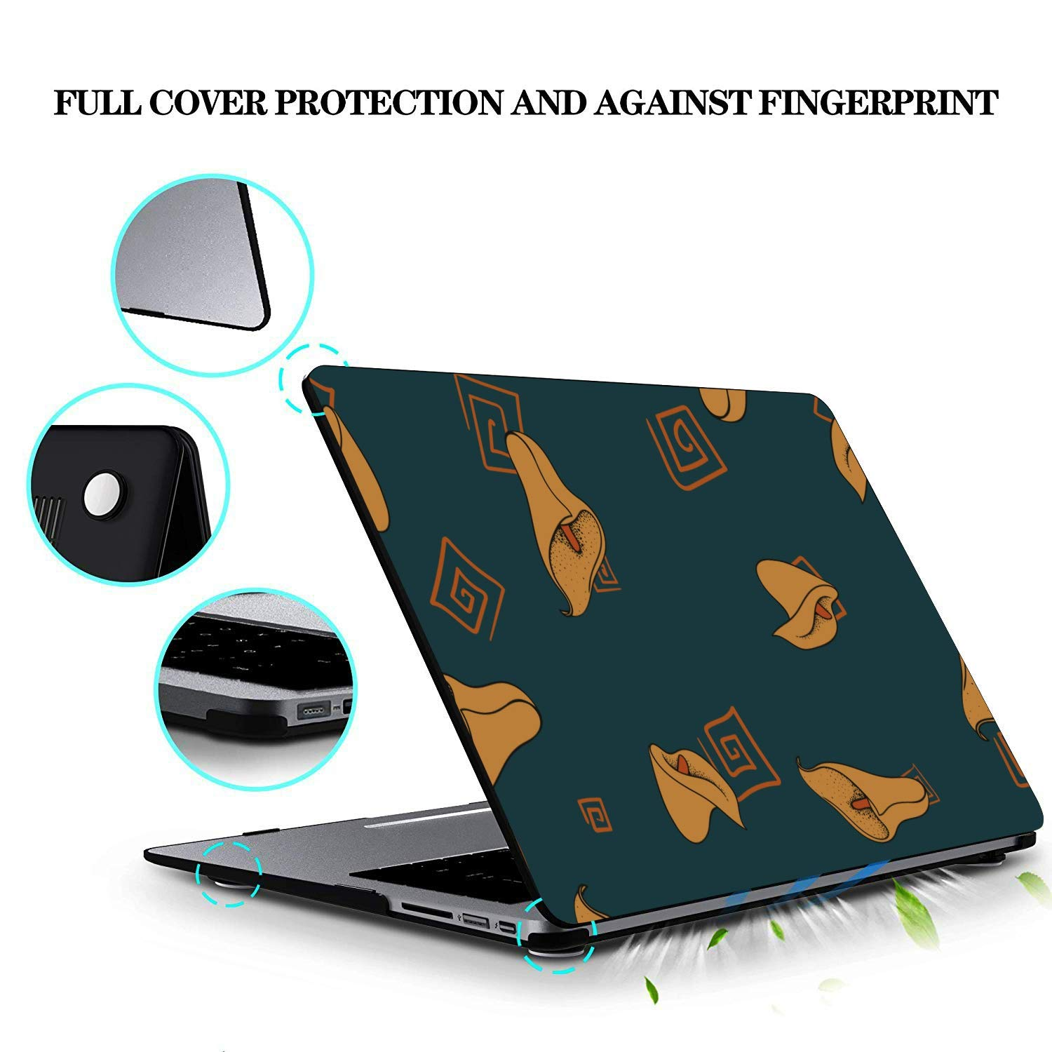 Macbookpro Case Yellow Elegant Noble Floral Calla Plastic Hard Shell Compatible Mac Air 11 Pro 13 15 Laptop Pro Accessories Protection for MacBook 2016-2019 Version