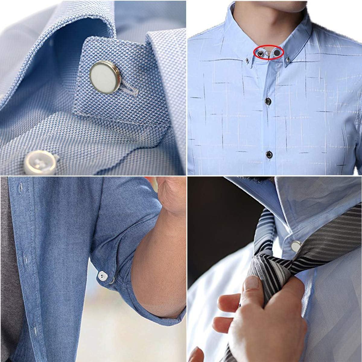 18 extensores de cuello de camisa, extensores de botón elástico de cintura GreeStore para puños, vestidos, pantalones vaqueros (blanco, negro y ...