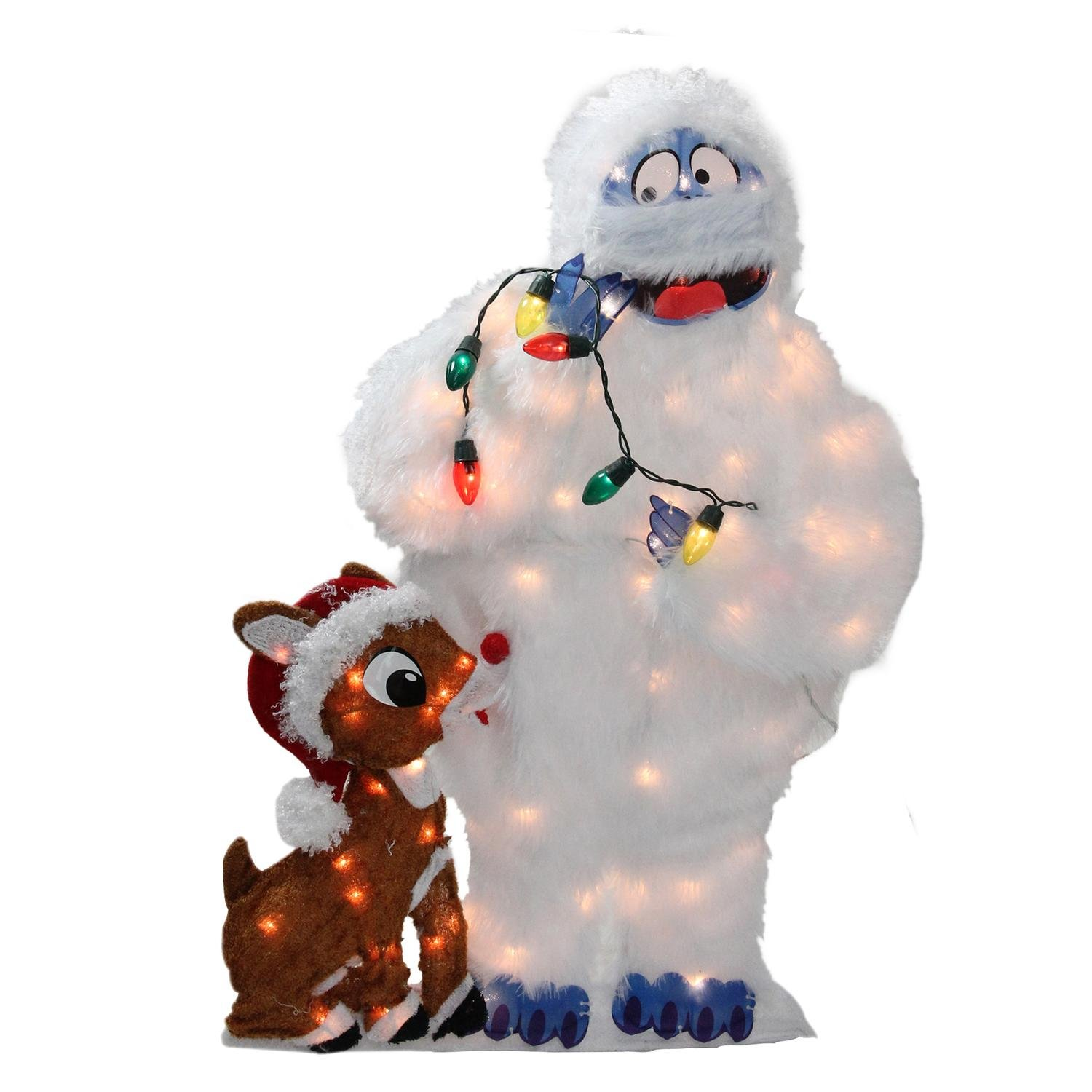 Rudolph the Red-Nosed Reindeer PW 20305 Rudolph and Bumble 2-D Outdoor Decoration - 32'' Pre-lit by Rudolph the Red Nosed Reindeer (Image #1)