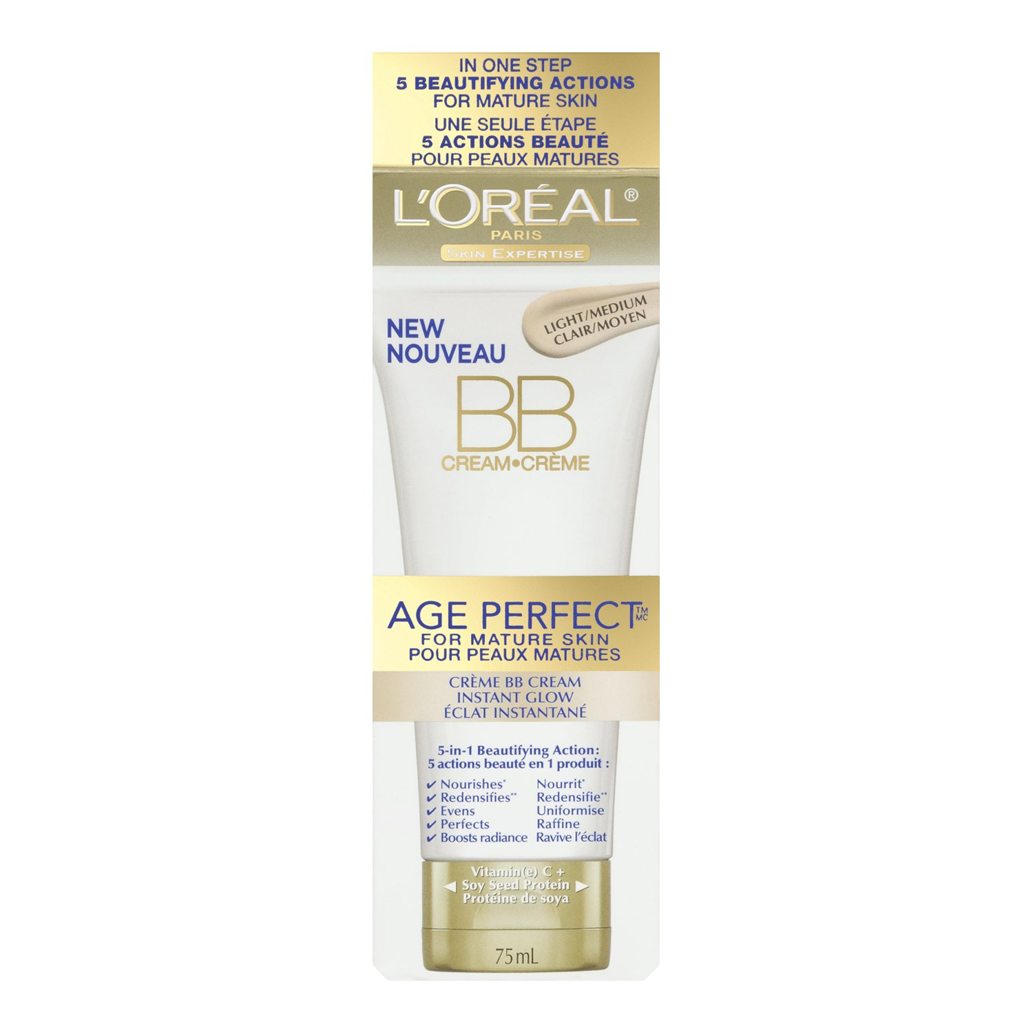 L'Oreal Paris Age Perfect Instant Glow BB Cream, 75-Milliliter L' Oreal Paris 071249240946