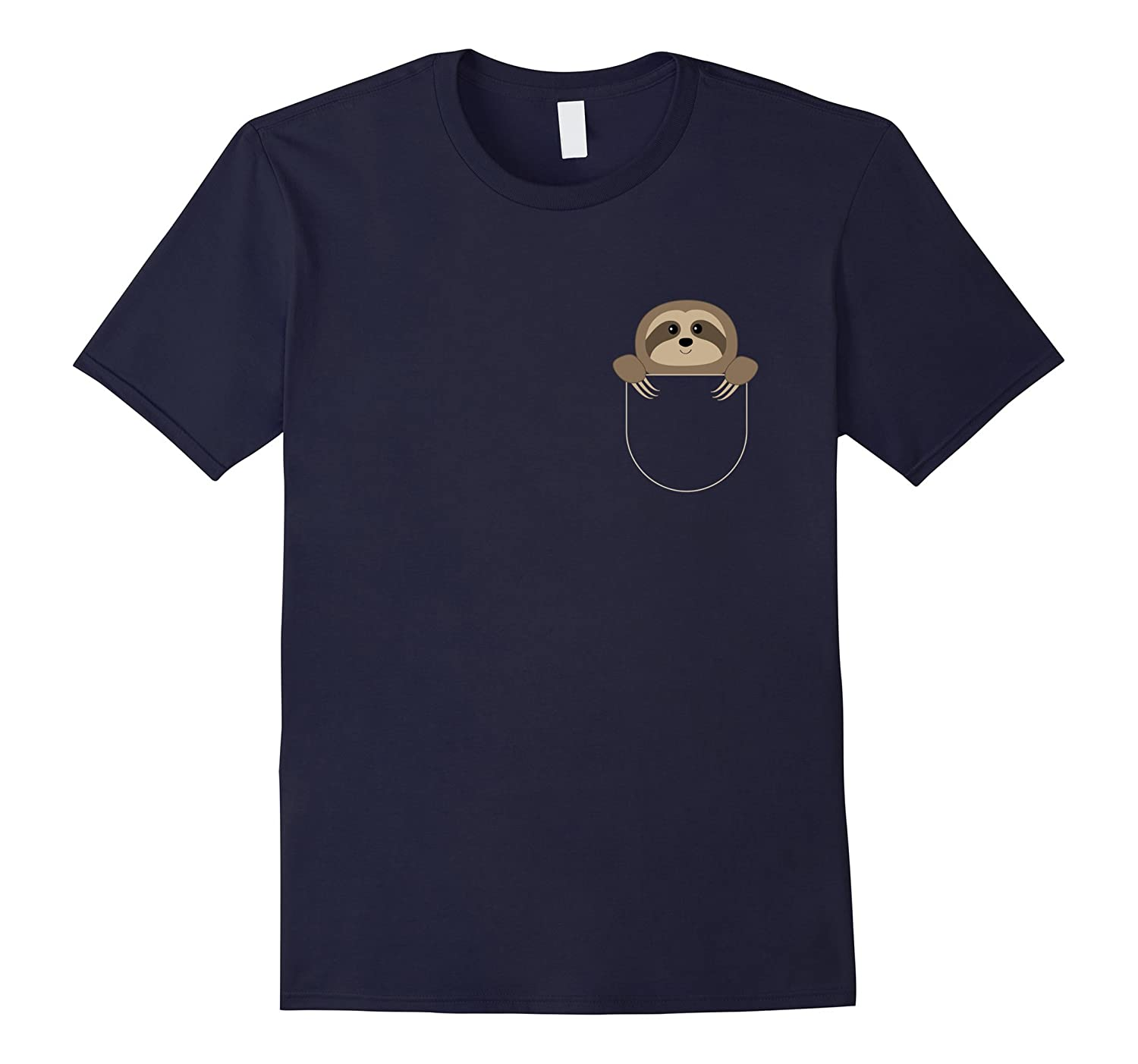 Chillin Sloth Pocket T-Shirt Funny Sloth In Your Pocket T-TD