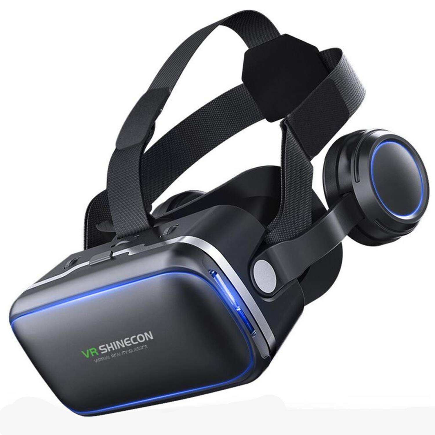 "VR Headset Virtual Reality 3D Glasses Headset w/ 100°FOV & Stereo Over Ears Headphones, VR for 3D Movies Games for iPhone X 8 7 6S 6 Plus, Samsung S9 S8 S7 S6 Edge+ & More 4.7-6.0"" Smartphones, Black"