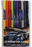 Depesche 6044 - Doppelfasermaler Monster Cars, 10-er Pack