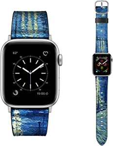 Dilando Leather Band Compatible with Apple Watch Series 6 38mm 40mm Genuine Leather Vintage Replacement Strap Classic Bracelet Buckle for iWatch SE 6 5 4 3 2 1 Women Men Midnight Blue