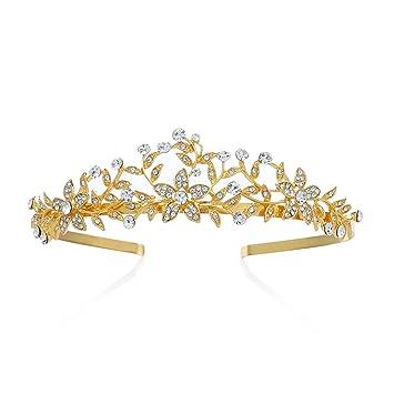 Amazon Com Sweetv Wedding Crown Bridal Tiara Headband Crystal